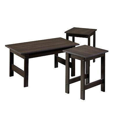 3-Piece Coffee End Side Living NEW