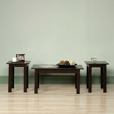 3-Piece Coffee End Side Wood Cocktail Living Room NEW