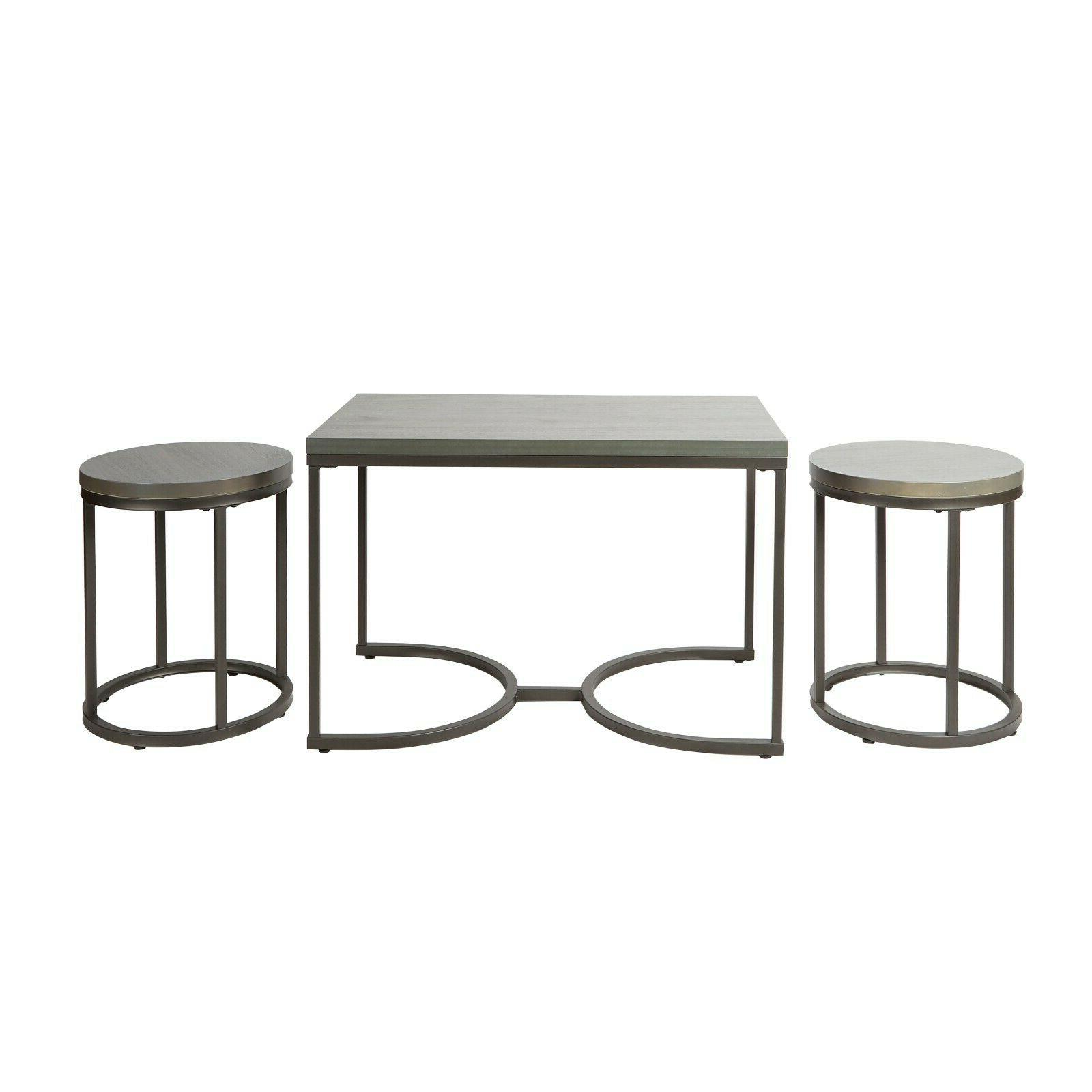 3 coffee set round table table Side Tables