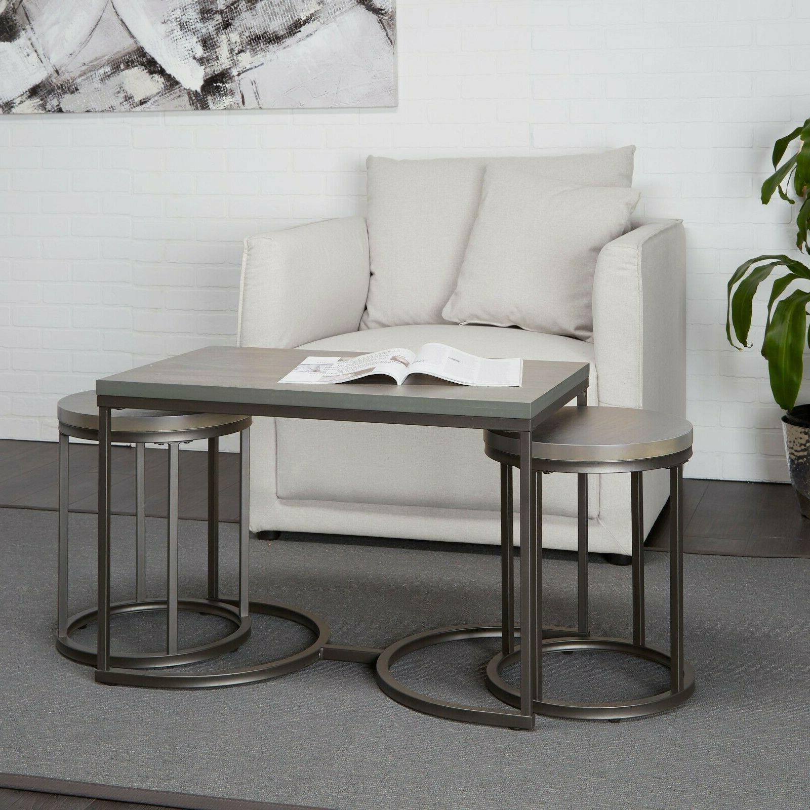 3 piece coffee set coffee table end Tables modern