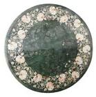 """30"""" Marble Side Coffee Table Top & FREE Round Plate Inlay Ar"""