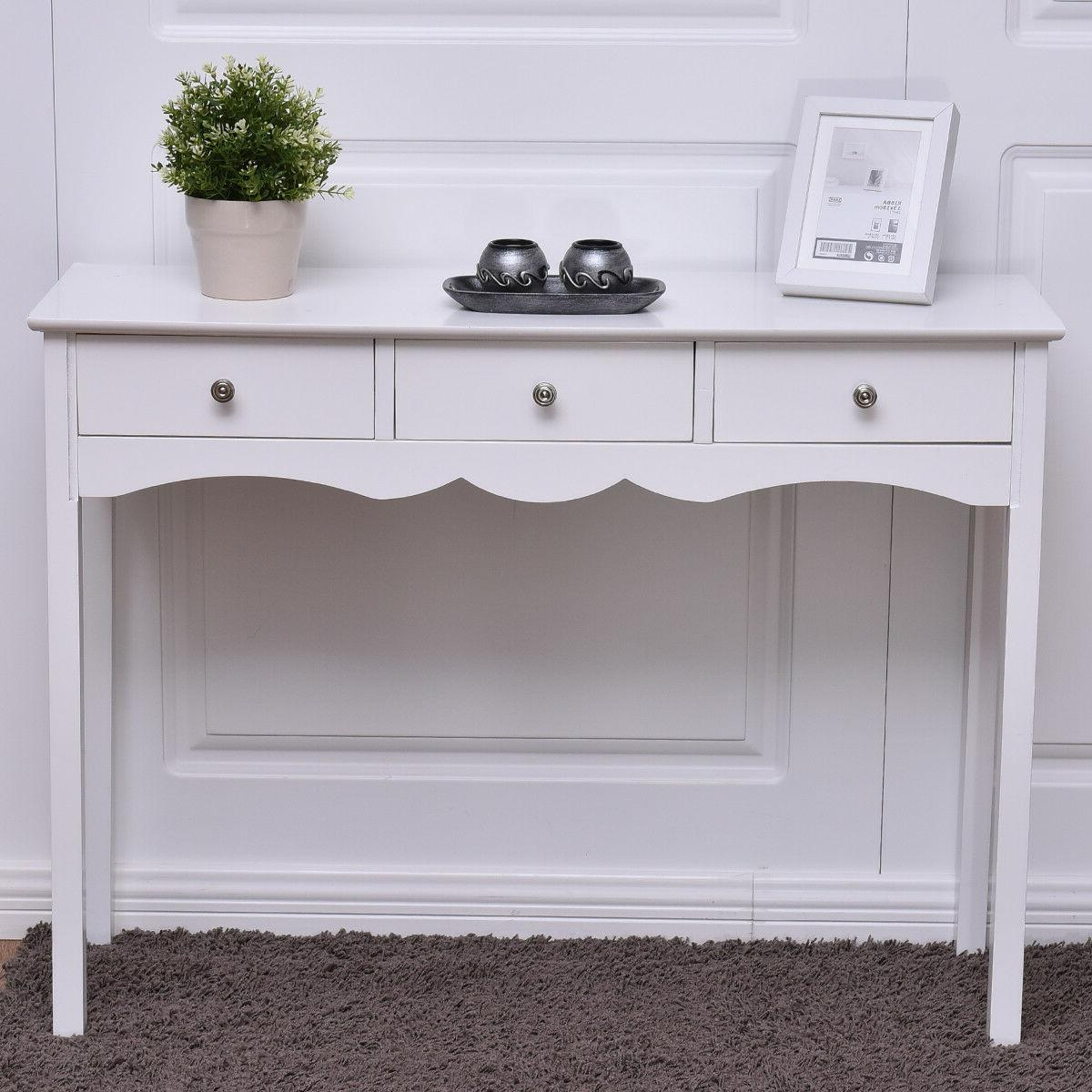 Console Table Hall table Side Table Desk Accent Table 3 Draw