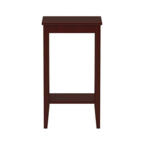 DHP Tall End Table, Simple Small Coffee Brown
