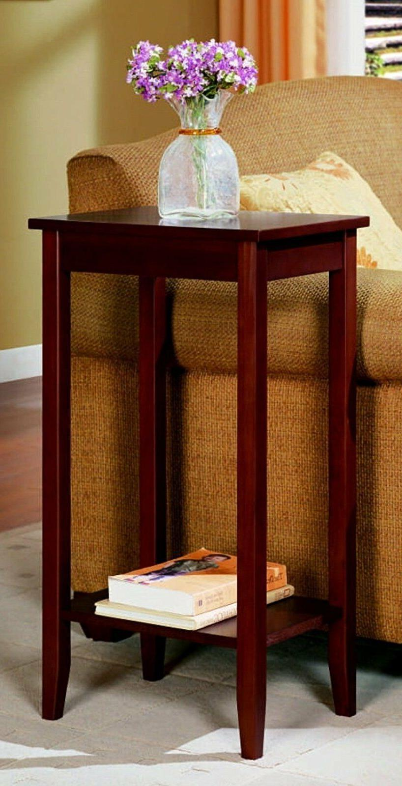 DHP Rosewood Small End Table Accent Side Sofa Stand Home Off