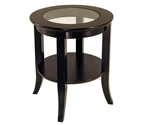 Frenchi End Table, Side Table Espresso
