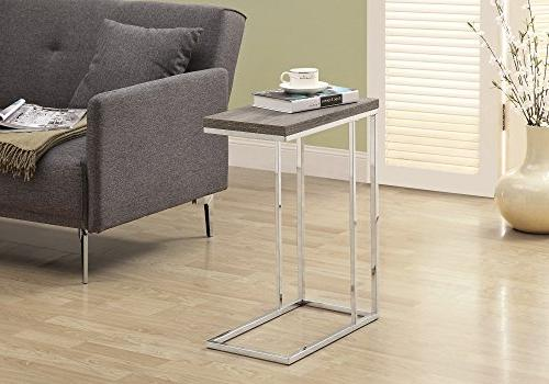 Monarch Specialties 3008, Accent Table, Chrome Dark