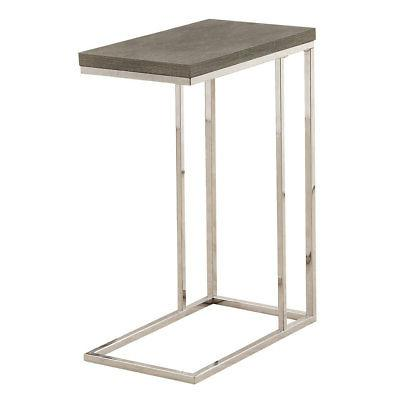 Monarch Specialties I 3008, Accent Table, Chrome Metal, Dark