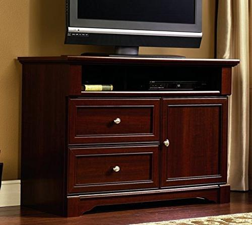 Sauder Palladia High Boy TV Stand, Select Cherry Finish