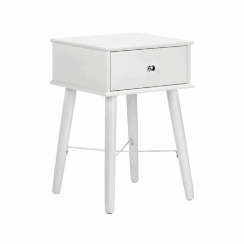Set of 2 Modern Chic Classic White Side, Accent Table or Nig