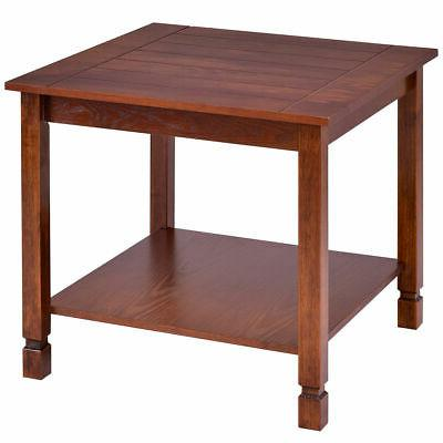 Wood Side Table End Table Night Stand Coffee Table W/ Storag