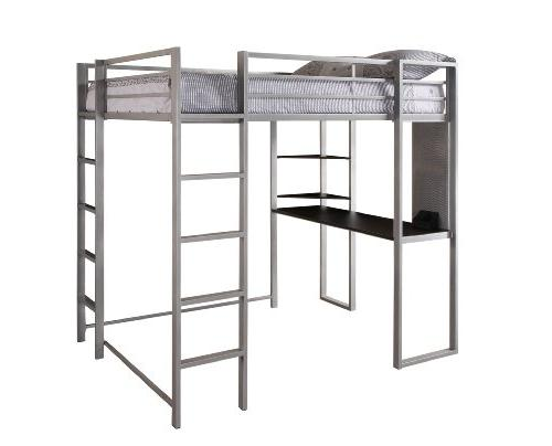 Bed and Shelves in