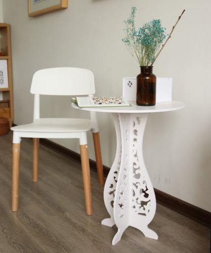 accent round coffee tea sofa side table