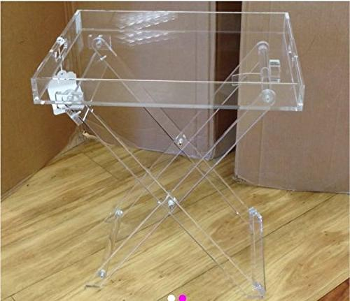 acrylic tray table