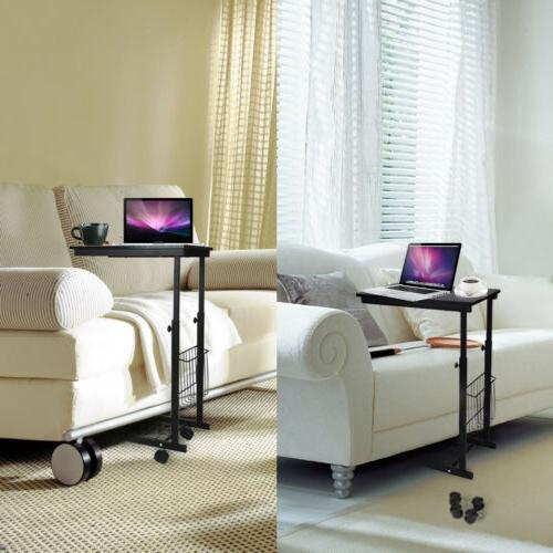 Adjustable Tray Side Stand Snack Couch Room