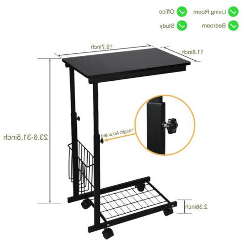 Adjustable Sofa Side End Table Lap Stand Room