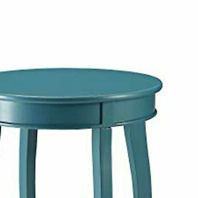 Affiable Side Table, Teal Blue Contemporary