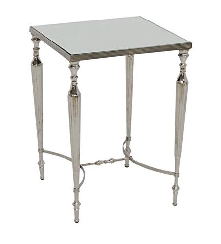 aluminum square accent side table