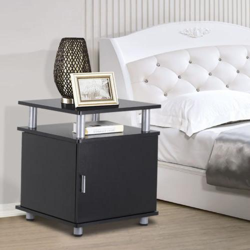 End Table Nightstand Accent Storage Cabinet Couch Side Livin