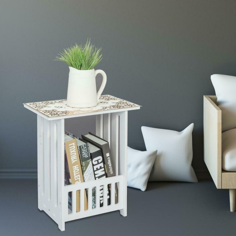 Bedside Cabinet Tea Table Space Furniture