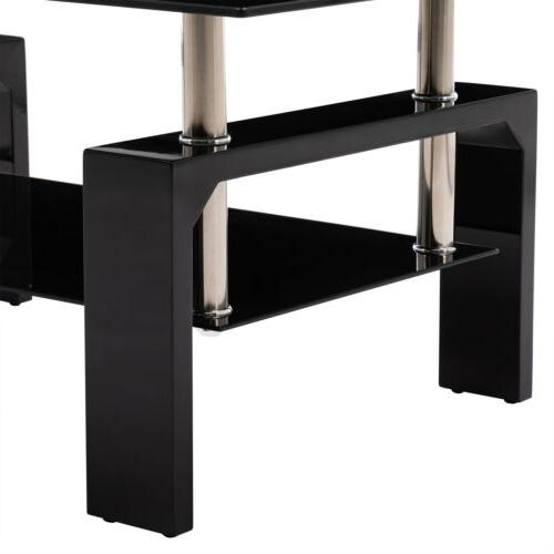 Black Table w/Shelf Living