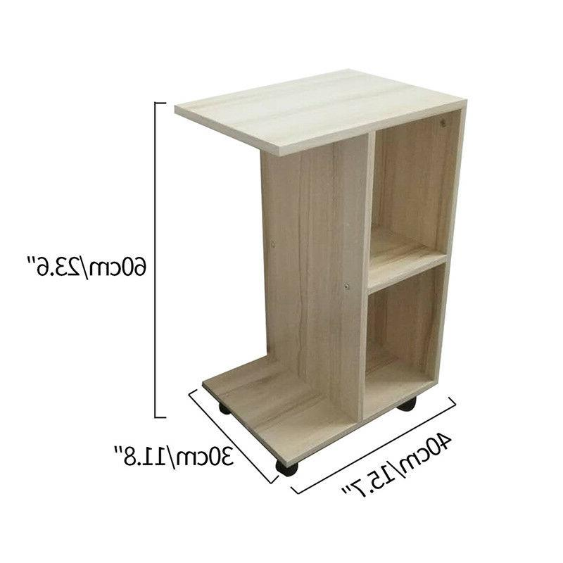 C Side End Table Couch Stand Magazine Storage Living Room