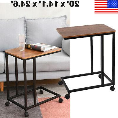c shaped side sofa snack table coffee