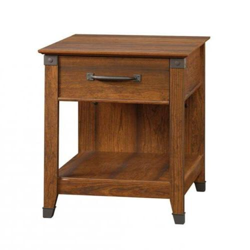 carson forge smartcenter side table washington cherry