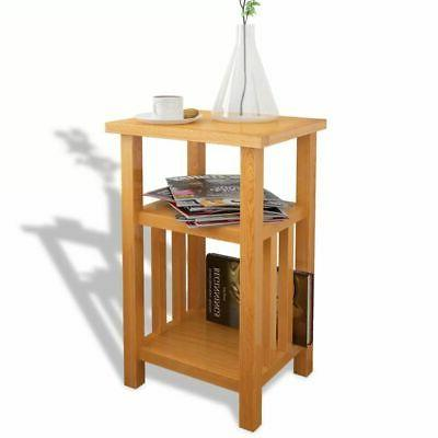 Chair End with Shelf Chairside Table Oak