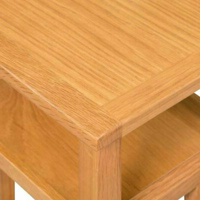 Chair Side End with Shelf Solid Oak