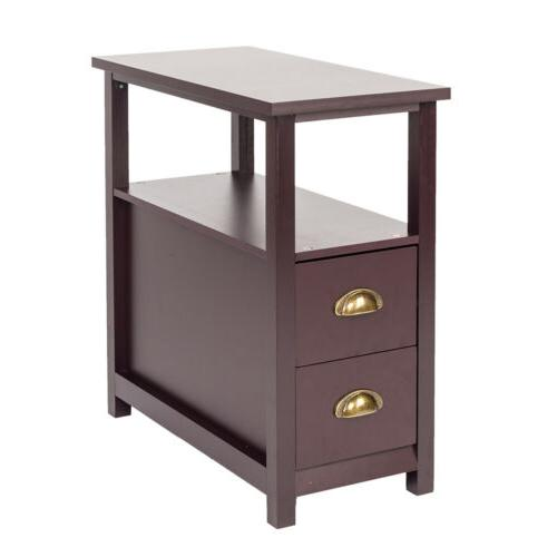 Chairside Side End Snack Storage Table With NEW
