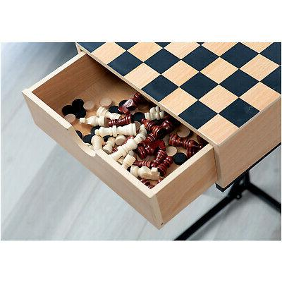Chess Set- Wooden with Storage Stand