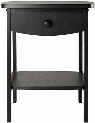Claire Table Black Composite Table night Stand