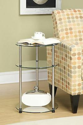 Convenience Concepts Classic Glass 3 Tier Round Table