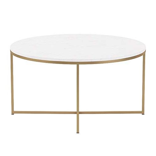 """WE 36"""" Coffee Table X-Base Faux"""
