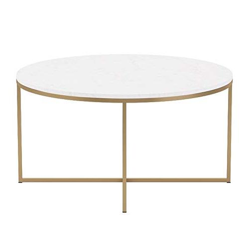 Table Faux Marble/Gold