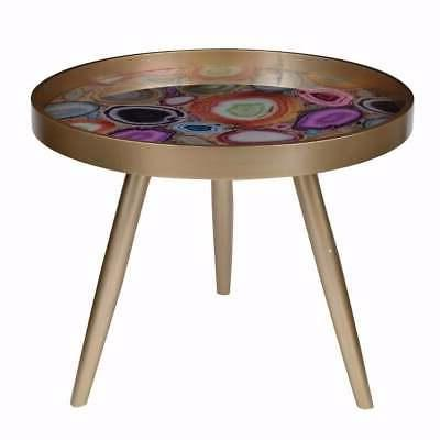 Colorfully Exuberant Livonia Side Table MultiColor