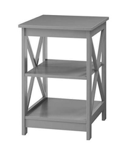 convenience concepts oxford end table gray