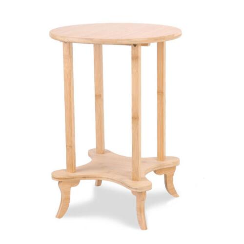 Corner Coffee Occasional Round Tables 2 Tiers