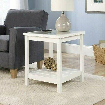 Sauder Cottage Road Collection Side Table, Soft White