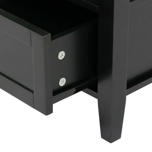 End Stand Bedside Table Living Shelf