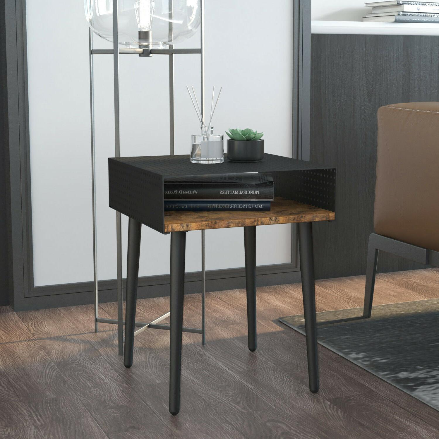 Room, Side Table with Metal