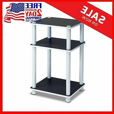 End Table Night Stand 3 Tier Tables Furniture Espresso White