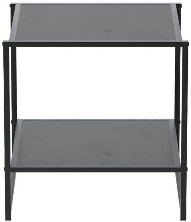 END TABLE Square with Lower Shelf ZINUS
