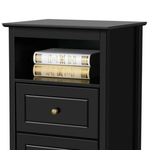 Tall Sofa/Bed Side Accent w/Drawer Shelf