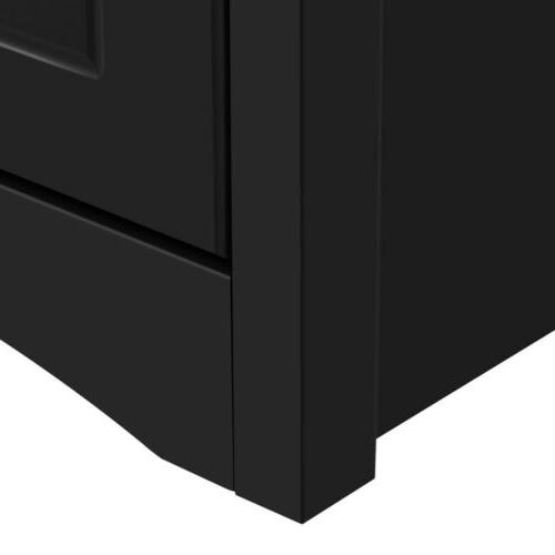 Tall End Nightstand Sofa/Bed Accent w/Drawer Shelf Livingroom