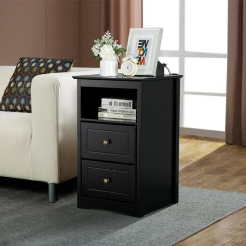 Tall End Tables Sofa/Bed w/Drawer Shelf