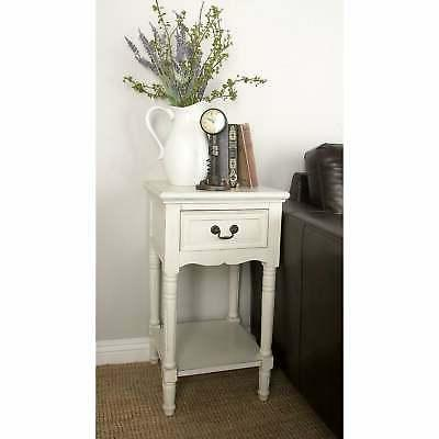 farmhouse 29 inch square wooden side table