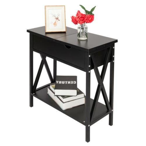 flip top table modern accent side stand
