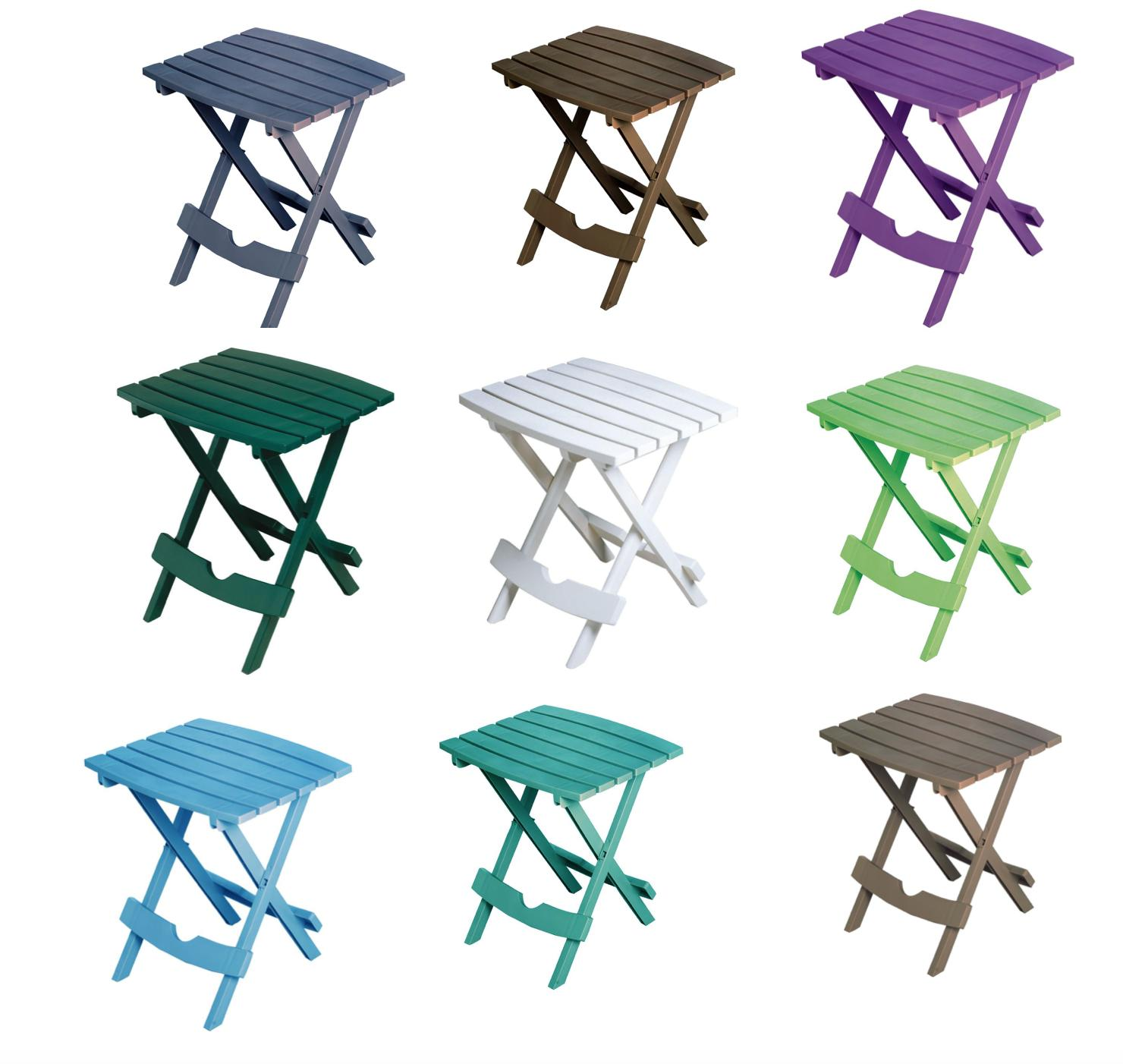 Folding Plastic Outdoor Side Table Patio Pool Hold Sunglasse