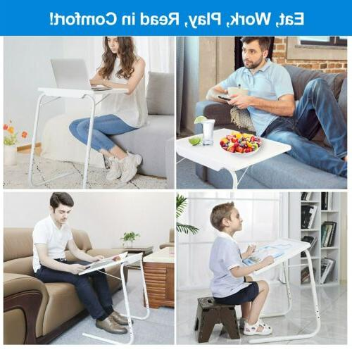 Folding Table Sofa TV Snack Assembled Bed Adjustable Angle